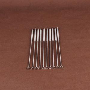 Limpe a limpeza de um acessórios para tubos de fumar metal limpador de peças de escova titular limpo algodão haste da haste