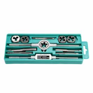 Pro 12 pezzi metrici Tap and Die Set w / Case Screw Extractor Remover Strumenti di inseguimento