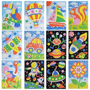 30 PC al por mayor niños exquisito EVA hecha a mano de cristal de diamante y adhesivo de papel pegar Pintura Mosaico del rompecabezas 3D juguetes para los niños
