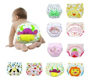Baby boys girls Study pants embroidered stretch pants pure cotton cloth diapers newborn swimming nappy covers