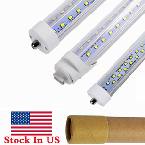 V Şekilli 8ft R17D LED Işık Tüpleri 65 W T8 8FT FA8 Tek Pin LED Tüpler Düz Çift Satırlar 72 W LED Floresan Işıklar AC 85-265V + ABD'deki stok