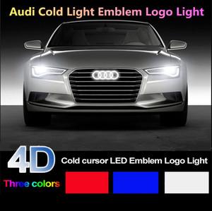 Car Styling 4D fria luz do emblema iluminado Audi A1 para A3 A4 A5 A6 A7 Q3 Q5 TT R8 Frente emblema grade Logo luz quente