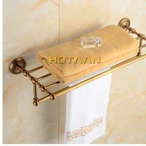 ENVÍO GRATIS, estante de toalla de baño de latón macizo, titular de toalla de latón antiguo, accesorios de estante de toalla de baño de esquina de 50cm, YT-12201-50