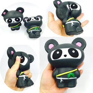 squishies wholesale kawaii jumpo squishy netter Ninja-Panda, der langsam squishy steigt, mit dem Paketquetschspielzeug-Kindergeschenk duftend Freier Schiff