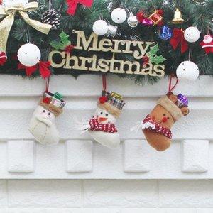 Noel Çorap El Yapımı El Sanatları Çocuk Şeker Hediye Santa Çanta Baba Kardan Adam Geyik Stocking Çorap Noel Ağacı Dekorasyon oyuncak hediye # 62 63 64