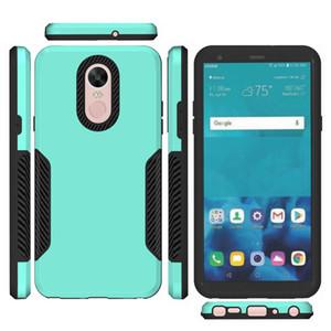 Для LG STYLO 5 K40 Для LG Tribute Empire Aristo 3 Чехол для телефона MetroPCS Чехол для гибридной брони Carbon Fiber Captain Противоударный чехол