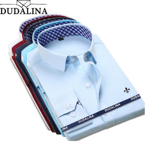 New Classical Dress Shirt Male Shirt Men Spring Autumn Long Sleeve Solid Twill Formal Business Men Social Shirts