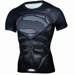 Fashion Super hero 3d Print Slim Fit T-shirt Men Short Sleeve Funny Tee Lot 001