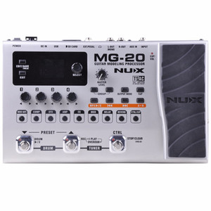 NUX MG-20 Multi-effects Pedal Guitar Processor with Wah-Wah Volume Expression Pedal 60 Effects 72 Presets with Drum Machine
