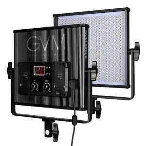 GVM Dimmable 520 Lampe vidéo LED 3200-5600K CRI97 + TLCI97 Professional Lampe de studio LED pour interviewer la lumière vidéo de la photographie