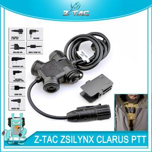 Tactique ZSILYNX CLARUS PTT PTT étanche pour casque Comtac ajustement Baofeng UV-5R UV-6R UV-B6 TYT TH-UVF9 Radio Kenwood / Icom / Midland