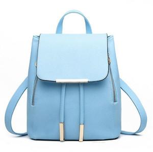 Mulheres Mochila de alta qualidade PU Couro Mochila Escolar Escola Bags Para Adolescentes Meninas Top-handle Mochilas Herald Moda