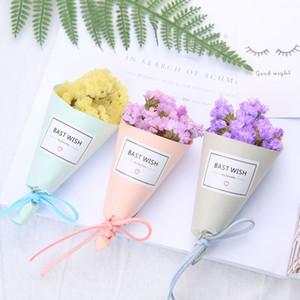 Forget Me Not Flowers Mini fiori secchi fatti a mano per fotografia Puntelli Decorazioni di nozze Bouquet Regalo di San Valentino 3mr BZ