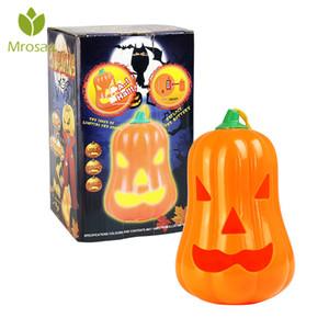Halloween Party Mrosaa Halloween Pumpkin Luz Decoração Noite iluminação da lâmpada de terror Brinquedos com assustador Som caçoa o presente