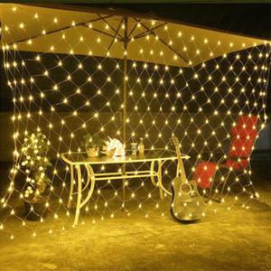 LED 1.5M * 1.5M 100 LEDs Web Net Light Fairy Christmas Home Garden Light Cortina Luces netas Net Lamps 110V 220V Luz de cadena super brillante