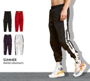2018 otoño para hombre pantalones deportivos carta impresa Hip Hop Jogger pantalones casuales con cordón pantalones lápiz 4 colores Sportwear