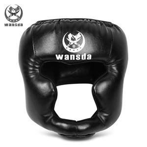 Wansda adulte de boxe Gants de boxe Équipement Casque Combat Combat Stamp option multi-couleurs Sport Ware Arts martiaux Défense unisexe VB