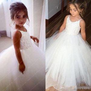 Тонкие ремни кружева тюль цветок девушка платье без рукавов первое коммунальное платье