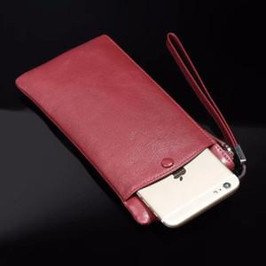Véritable sac à main en cuir de vache en cuir Mobile Phone Pouch Sacs pour Oukitel U18 / K8000 / K6 / Mix 2 / K5000 / K3 / K10000 Pro / U11 Plus / U10 / U7