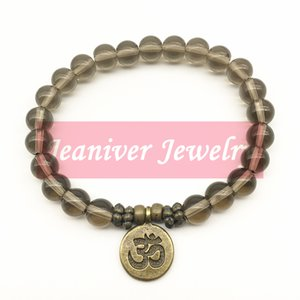 Jeaniver 2019 Men Bracelets New Design Yoga Jewelry Trendy Handmade Ohm Charm Bracelet Smokey Quarz Bracelet Free Shipping