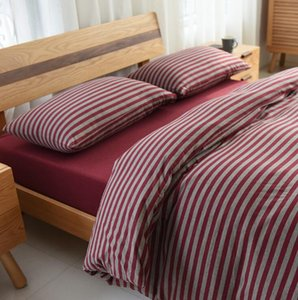 Good four-piece set of Scorpio cotton knit bedding home textile striped sheets quilt cover personalityGQ