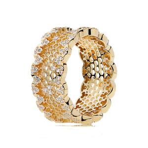 Стерлингового серебра 925 женщин кольцо соты кружева кольцо блеск ясно CZ мода девушка палец кольцо свадебный подарок fit Леди ювелирные изделия L18100901