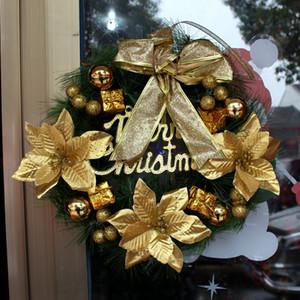 Respectueux de l'environnement 30CM Guirlande De Noël Rideau De Porte Suspendus Ornements De Noël Props De Fleurs Pour La Partie De L'Arbre De Noël Home Deco