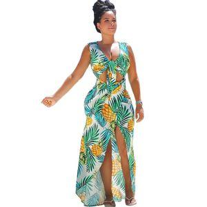 بوهو نمط مثير العميق الخامس الرقبة شاطئ فستان ماكسي المرأة الصيف الشيفون تونك 2018 شاطئ عطلة الأزهار طباعة طويل فستان حفلة موسيقية vestidos