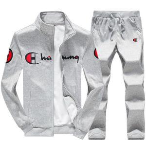 Venta al por mayor-2018 primavera y otoño invierno nuevos hombres traje de manga larga casual ropa deportiva chaqueta de la escuela secundaria de los hombres traje de Hoodies