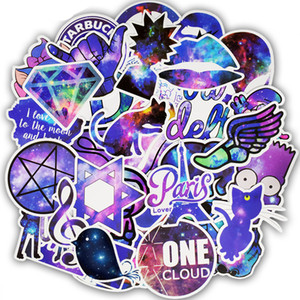 50 PCS Spazio Impermeabile Universo Galaxy Stickers Decalcomanie Giocattoli per bambini Adulti Ragazzi a DIY Laptop Bottiglia d'acqua Bagaglio Skateboard Moto
