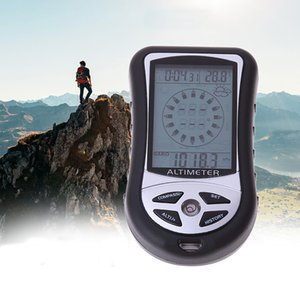 1PCS outdoor climbing handheld electronic altimeter 8 in 1 function forecast weather altimeter compass barometer clock