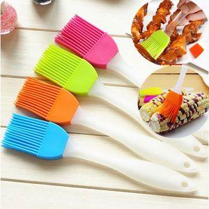 식품 학년 실리콘 바베큐 브러시 오일 브러쉬 버터 브러시 실리콘 온도 저항 브러시 혼합 색상 도매 임의의 보내기