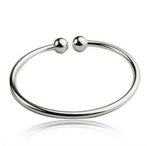 Bracelet double en argent avec bracelet ouvert aux femmes manchette bracelet manchette en argent sterling 925