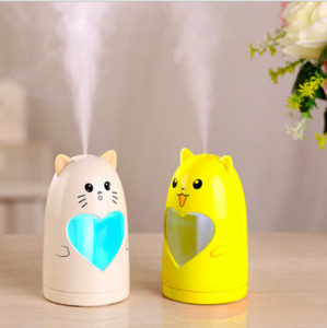 Creativo Mini umidificatore per animali Essenziali Diffusore per aromi Lampada LED Night Light Umidificatori a cartoni animati USB Fogger deodorante