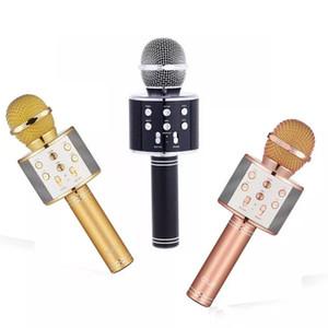 Nuovo WS-858 Altoparlante HIFI per microfono wireless Bluetooth WS858 Magic Karaoke Player Altoparlanti per feste MIC Registra musica per tablet PC