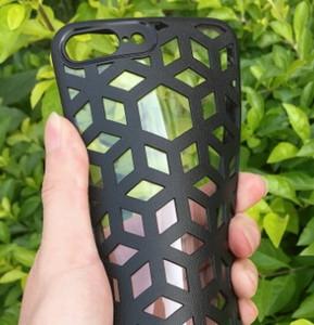 cell phone case Silicone Phone Case For iPhoneGrid Weaving Cases For iPhone 11promax 6 6s 7 Plus X XS Max Cover Silicon Accessories Top