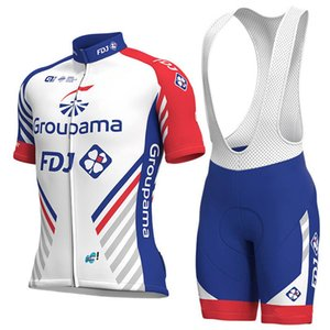 2018 Pro team FDJ camisa de ciclismo bicicleta curto SET MTB Ropa ciclismo PRO roupas de ciclismo mens BICICLETA Maillot Culotte
