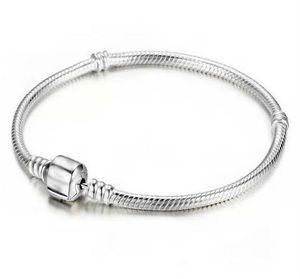 Niedriger Preis Fabrik Großhandel 925 Sterling Silber Armbänder 3mm Schlangenkette Fit Pandora Charm Bead Armreif Schmuck Geschenk Für Männer Frauen