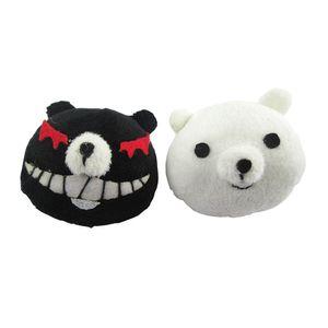 Danganronpa Dangan-Ronpa Junko Enoshima monokuma Cosplay Hairpin headwear grampo de cabelo preto branco Urso