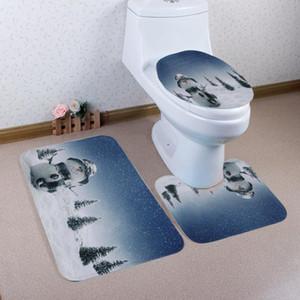 Yeni Tasarım Ev Noel Tuvalet Ayak Pedi Koltuk Örtüsü Radyatör Kapağı Banyo Setleri Banyo Paspasları