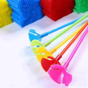 Ballons Halter Sticks mit Cup Latex Ballon Stick Weiße PVC Stangen Party Supplies Party Dekoration Zubehör 100 teile / los