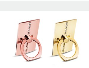 Telefon Ring Ring Metallband Diamant Ring Schnalle zurück Aufkleber faul Handy Rahmen Stent