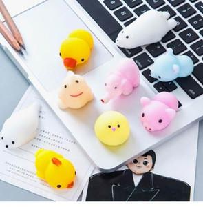 20 Pz Mini spremere giocattoli squishy Mochi Soft stress giocattoli antistress Kawaii Animali Squishy decompressione giocattoli Seal Octopus Rabbit