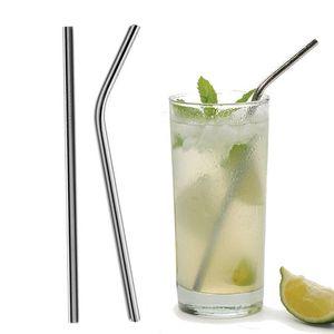 Pailles à boire en acier inoxydable 20 / 30oz pliées et droites pour accessoires de fête