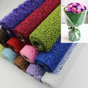 5 Yard * 50 cm / Rulo DIY Çiçek Hediye Dekorasyon Sarma Ambalaj Krep Kağıtları Örgü El Yapımı Malzemeler Jakarlı Çiçekler Malzeme