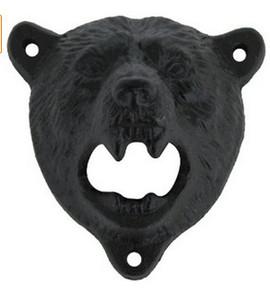 1 pcs Em Forma de Urso De Ferro Fundido Pendurar Fixado Na Parede Abridor De Garrafas Abridores De Cerveja Cozinha Acessórios Ferramentas