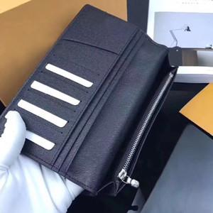 Mükemmel Kalite 2018 tasarımcı klasik standart cüzdan organizatör uzun çanta para çantası fermuar kese damier sikke cep not bölmesi