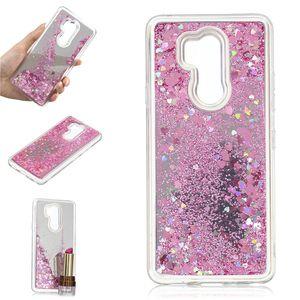 Capa para lg g7 thinq case quicksand flash glitter pó espelho casos de telefone duro capas para lg g7 thinq