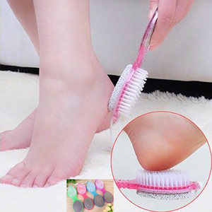 4in1 Clean Feet Brush Foot Pedicure Feet Rasp Brush Nail Clippers Piedi Cura Dry Smooth Skin Pumice Stone Board Rimuovi pelle morta HH7-813