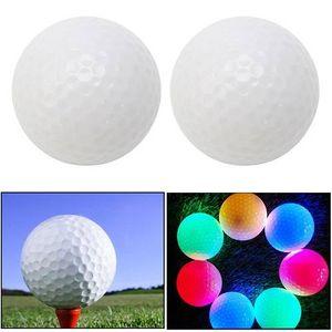 Envío gratis Moda multicolor Luz intermitente LED Electrónico Golf Práctica Bolas Noche Golfing Bolas Pequeñas luces intermitentes Brillante